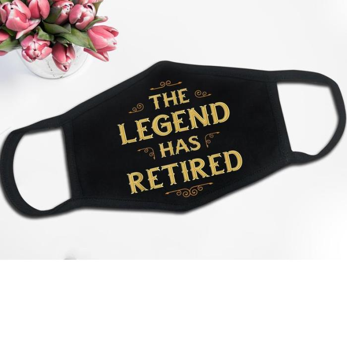 Personalized Face Mask-Retired 2021 The Legend Has Retired-Birthday Gift-Face Mask 2021