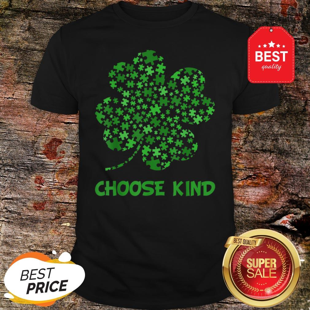 Irish Shamrock Autism Puzzle Pieces St Patrick's Day Gifts Shirt