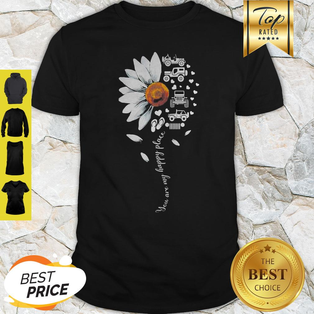 Official Jeep Daisy Flower You Are My Happy Place Shirt