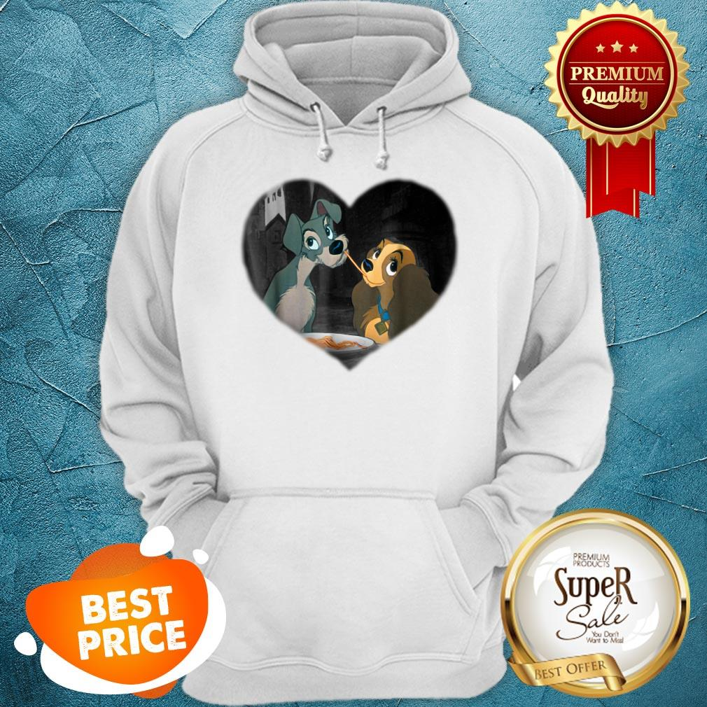 Nice Disney Lady and the Tramp First Kiss Hoodie