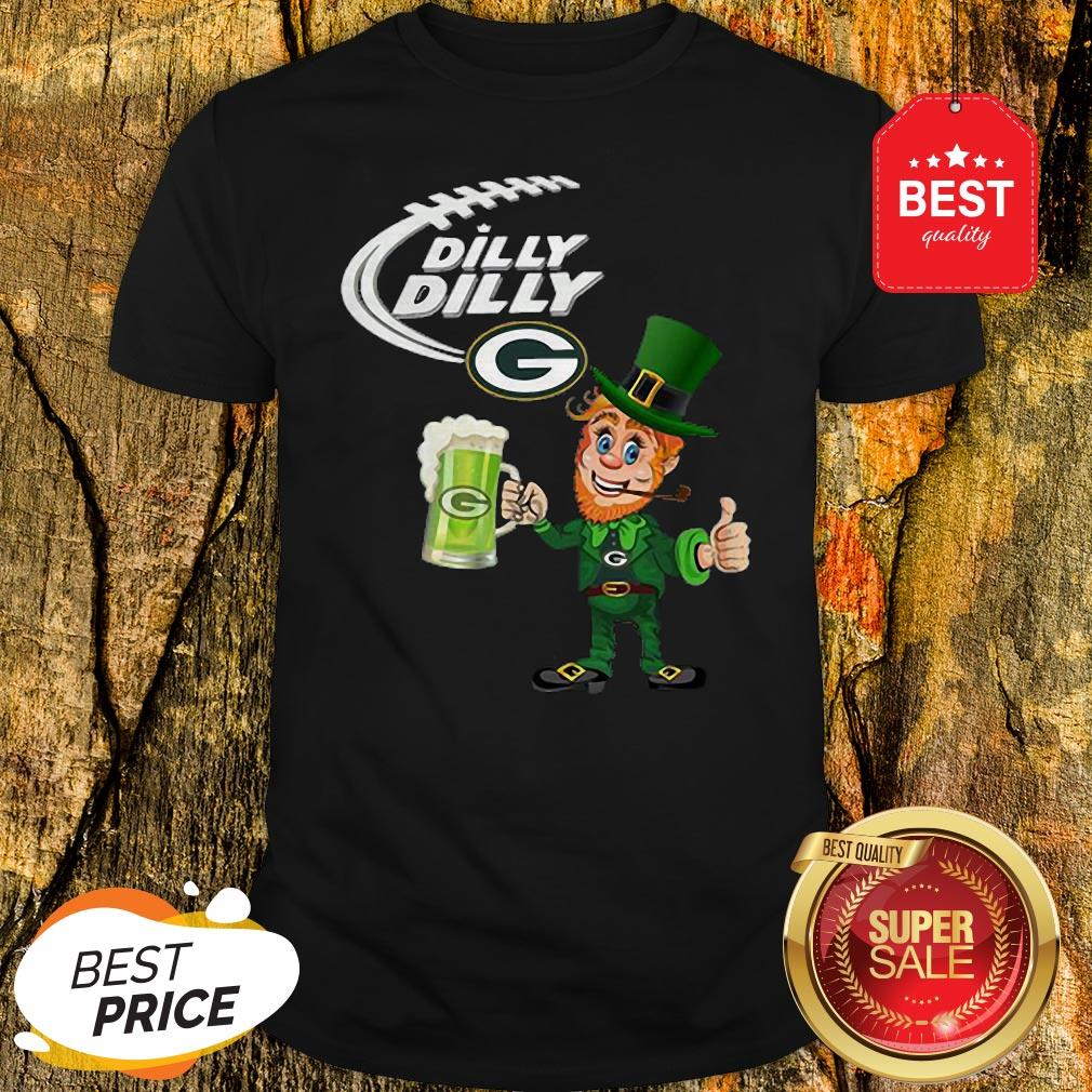 Leprechaun Dilly Dilly beer Green Bay Packers St Patrick Day Shirt