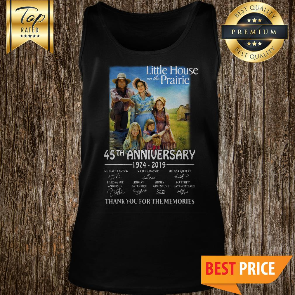 Little House On The Prairie 45th Anniversary 1974-2019 Thank You For The Memories Tank Top