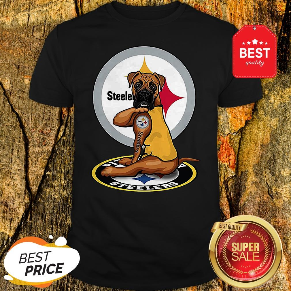 Official Pitbull Tattoo Pittsburgh Steelers Shirt