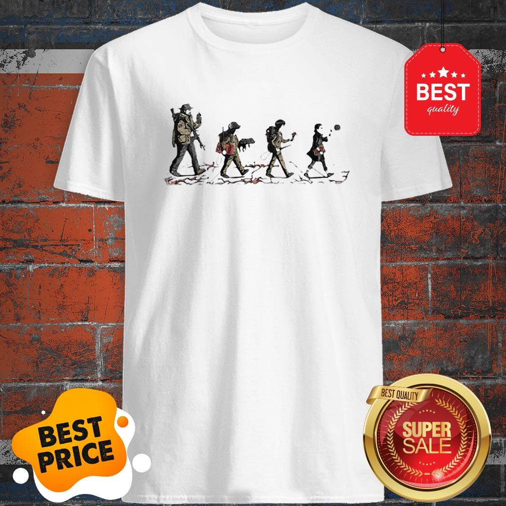 Official Stranger Things Mashup Abbey Road The Beatles Shirt