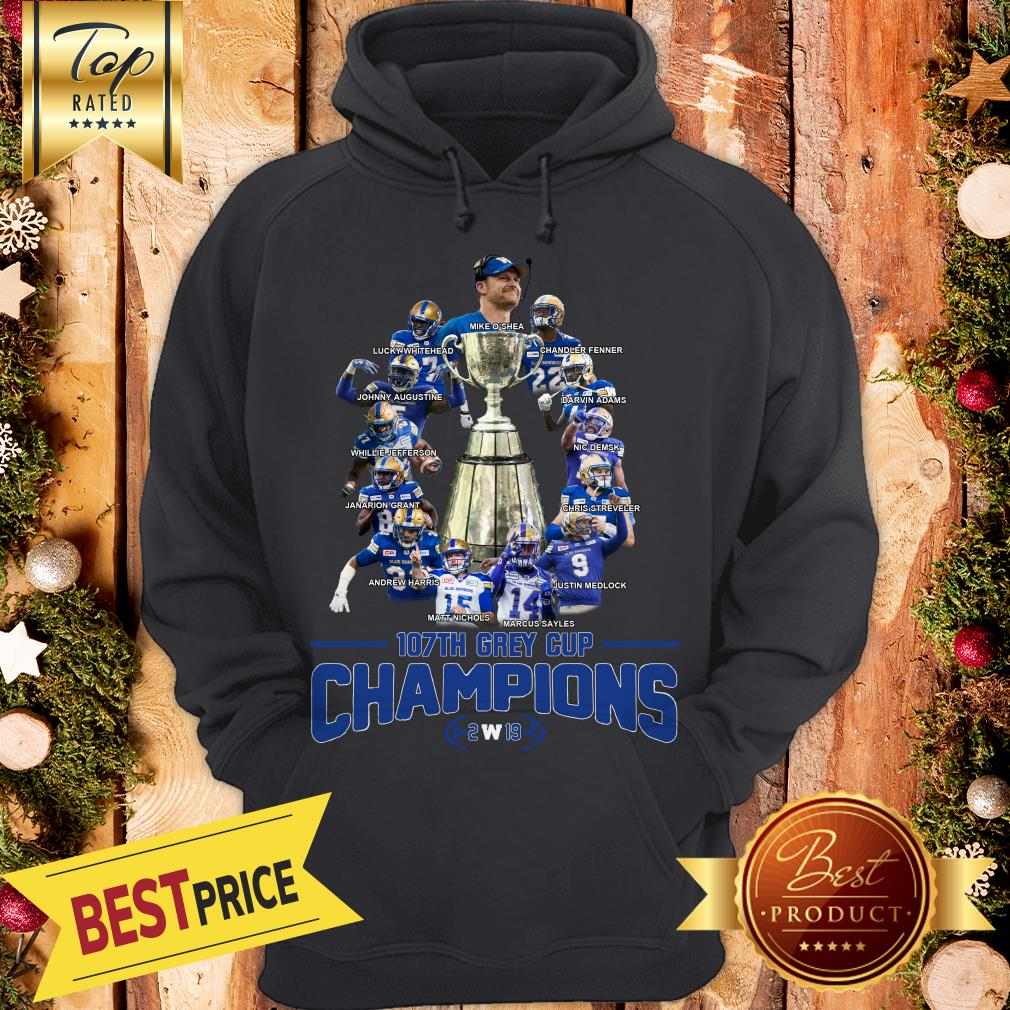 107th Grey Cup Champions 2w19 Hoodie