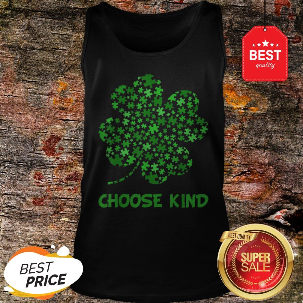 Irish Shamrock Autism Puzzle Pieces St Patrick's Day Gifts Tank Top