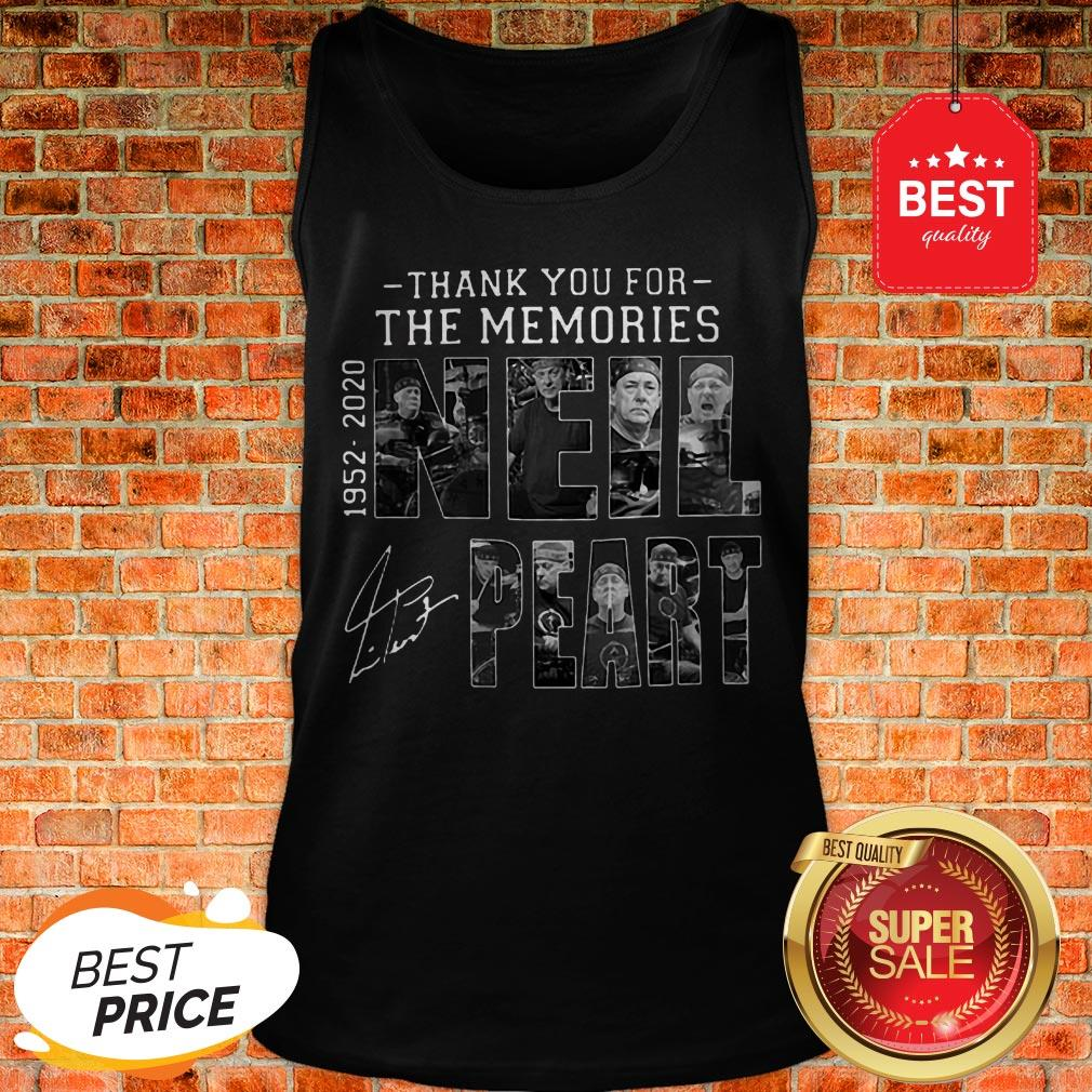 Official Thank You For The Memories Neil Peart 1952 2020 Signature RUSH Tank Top