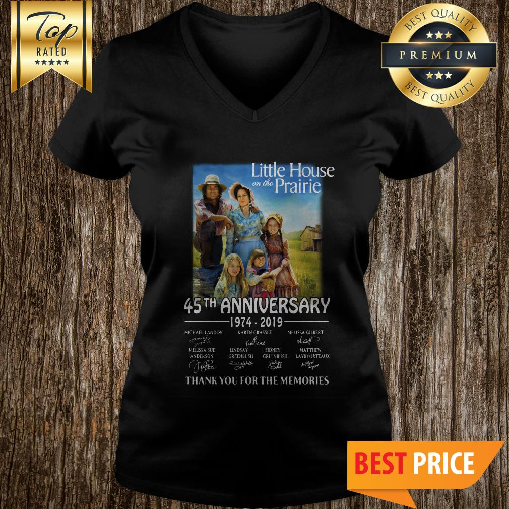Little House On The Prairie 45th Anniversary 1974-2019 Thank You For The Memories V-neck