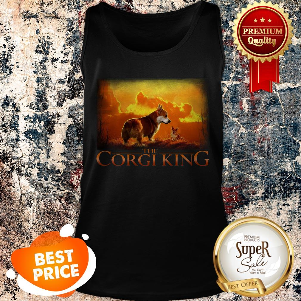 Official The Corgi King Dog Lovers Tank Top