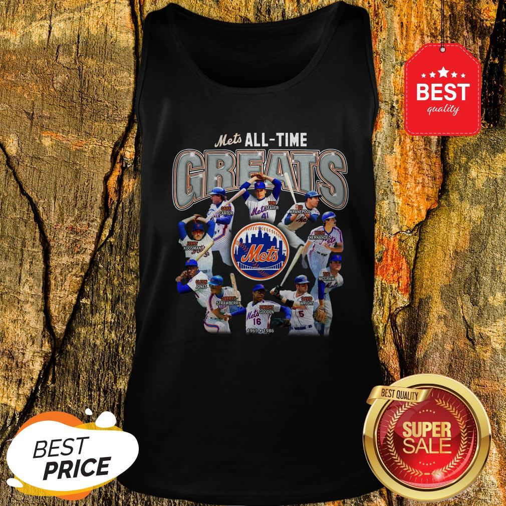 Official New York Mets All Time Greats Players Signatures Tank Top