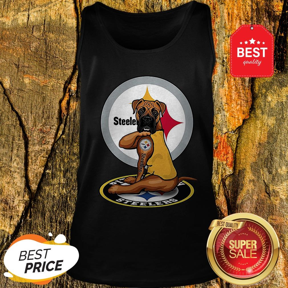 Official Pitbull Tattoo Pittsburgh Steelers Tank Top