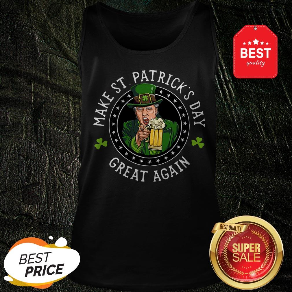 Official Donald Trump Make St. Patrick's Day Great Again Shamrock Tank Top