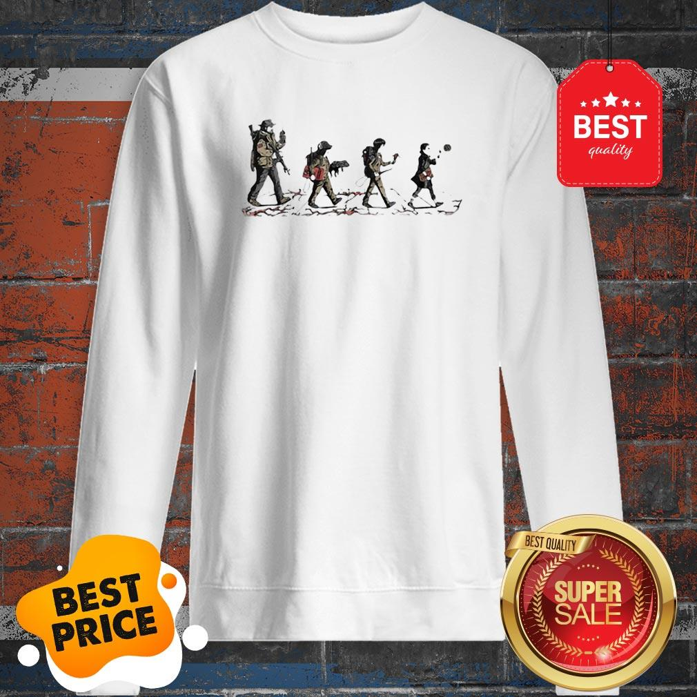 Official Stranger Things Mashup Abbey Road The Beatles Sweatshirt