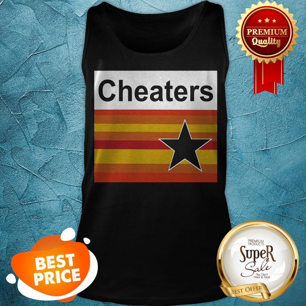 Nice Astros Cheaters Tank Top