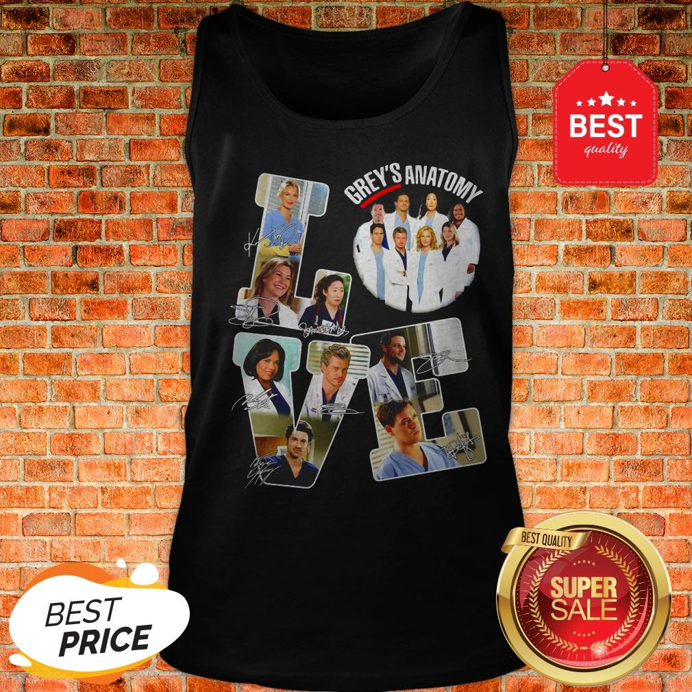 Official Love Grey's Anatomy Signatures Tank Top