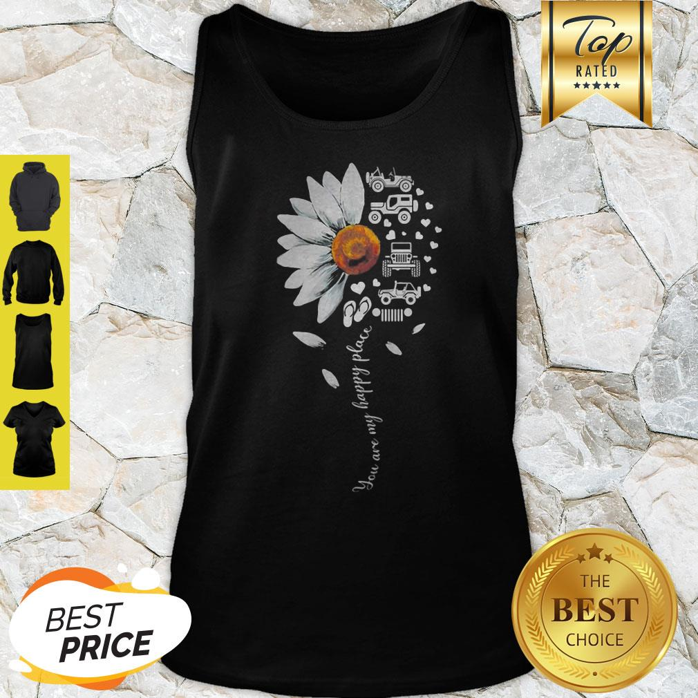 Official Jeep Daisy Flower You Are My Happy Place Tank Top