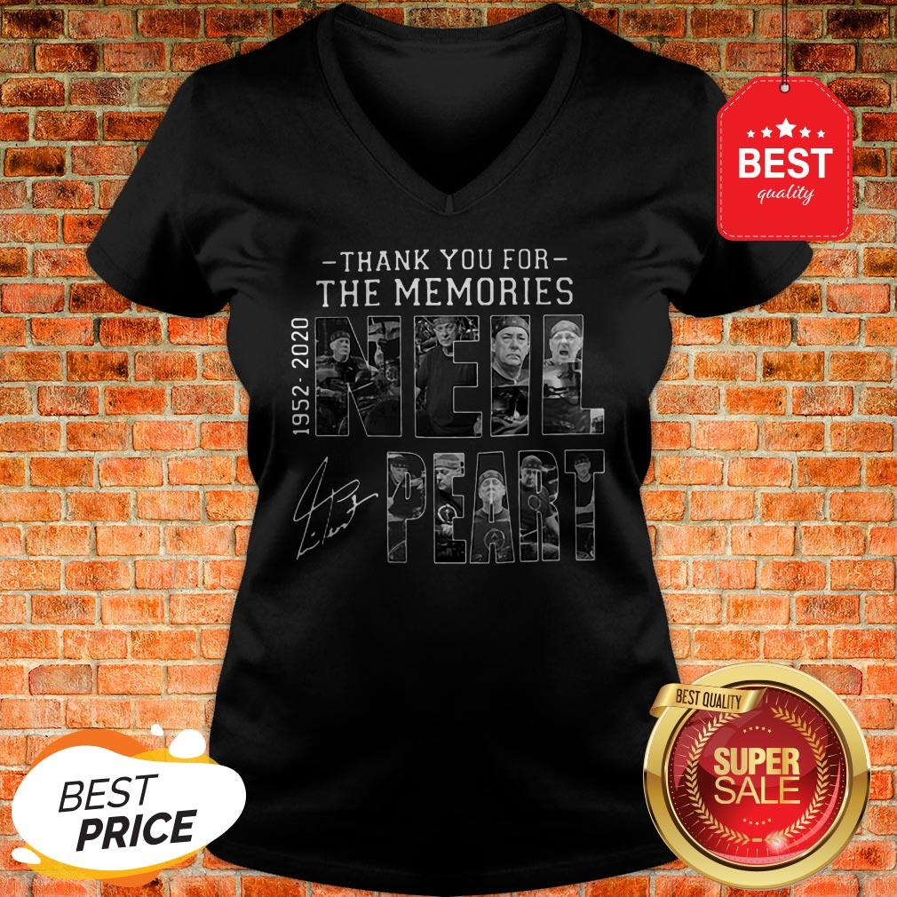 Official Thank You For The Memories Neil Peart 1952 2020 Signature RUSH V-Neck