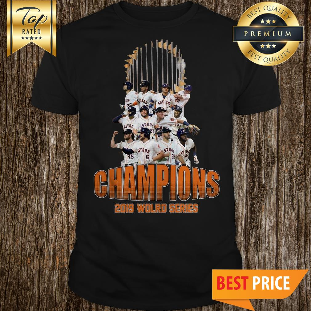 Official Astros Houston 2019 World Series Champions Flag shirt