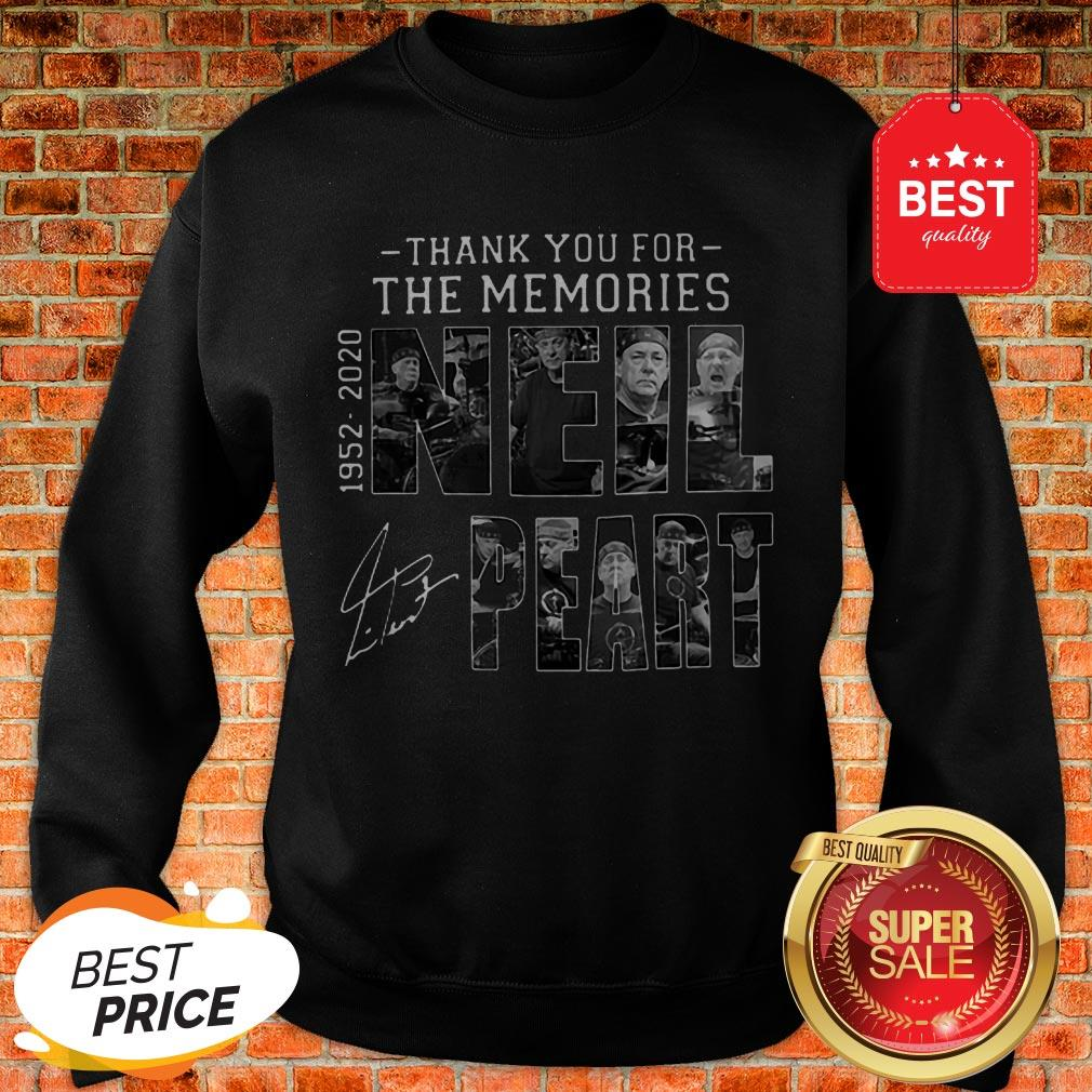 Official Thank You For The Memories Neil Peart 1952 2020 Signature RUSH Sweatshirt