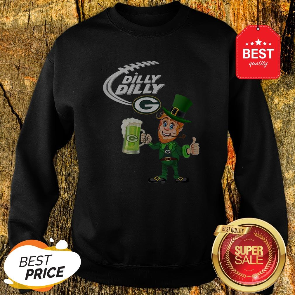 Leprechaun Dilly Dilly beer Green Bay Packers St Patrick Day Sweatshirt