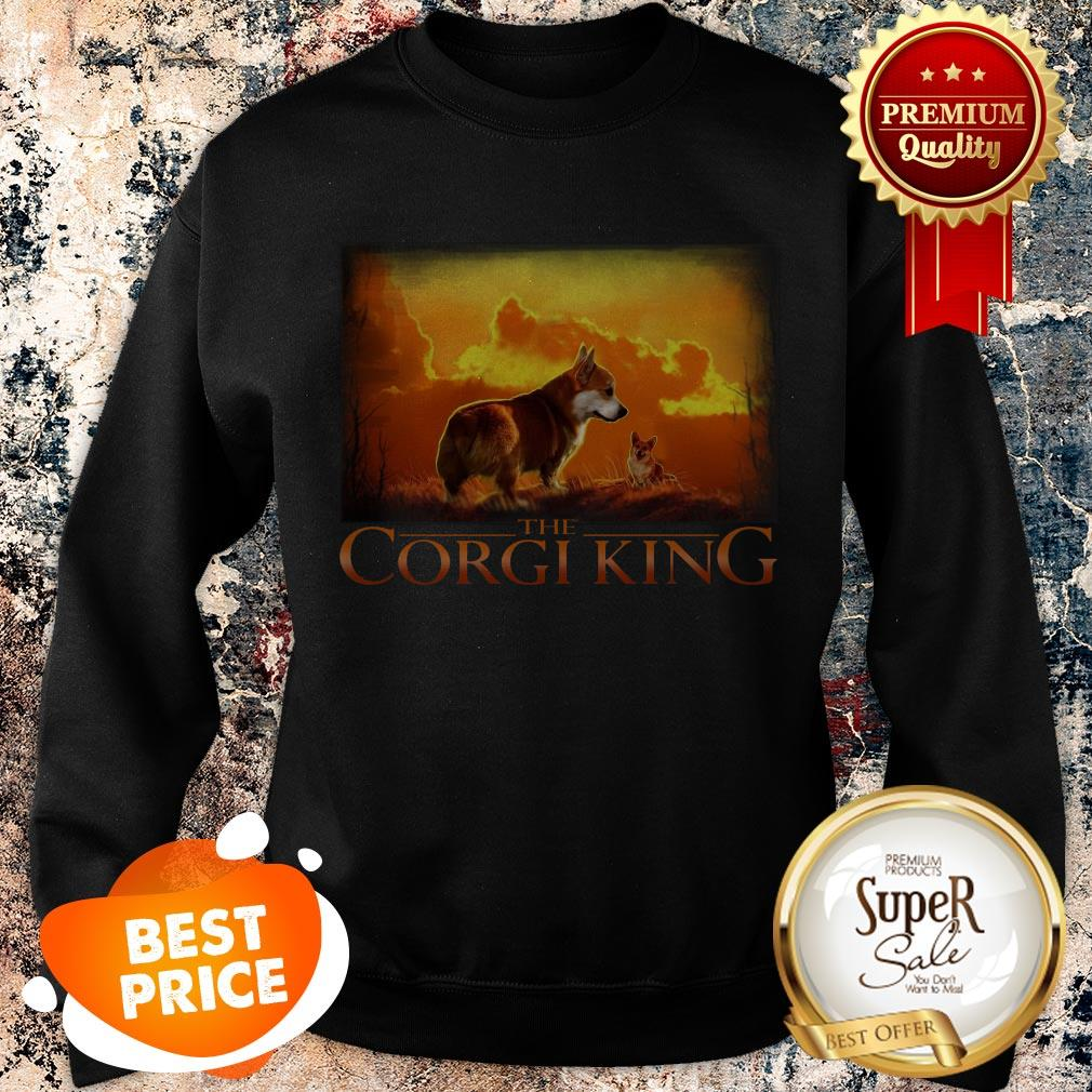Official The Corgi King Dog Lovers Sweatshirt