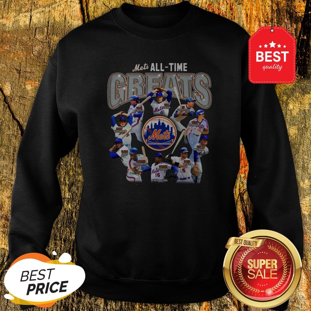 Official New York Mets All Time Greats Players Signatures Sweatshirt