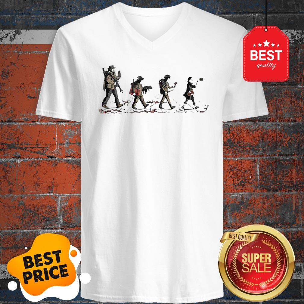 Official Stranger Things Mashup Abbey Road The Beatles V-Neck