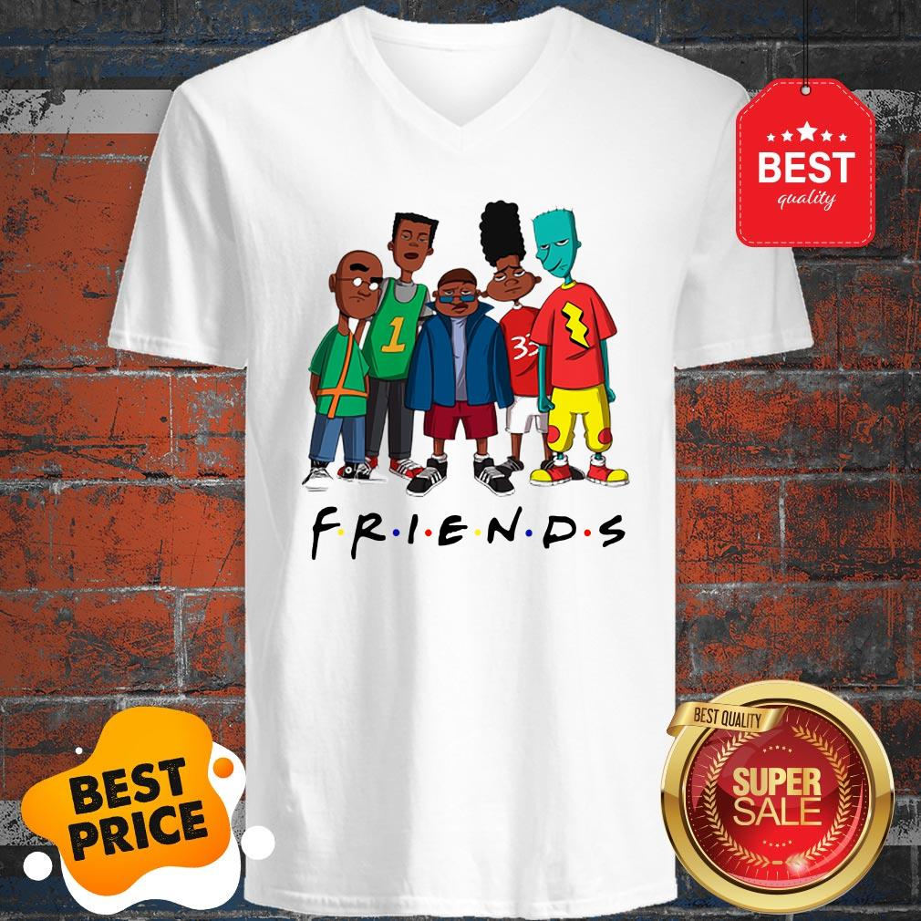 Official Friends We Are Black History Month V-Neck