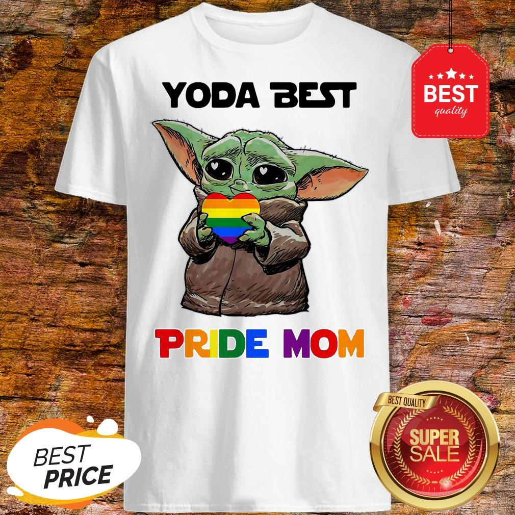 Official LGBT Baby Yoda Best Pride Mom Shirt