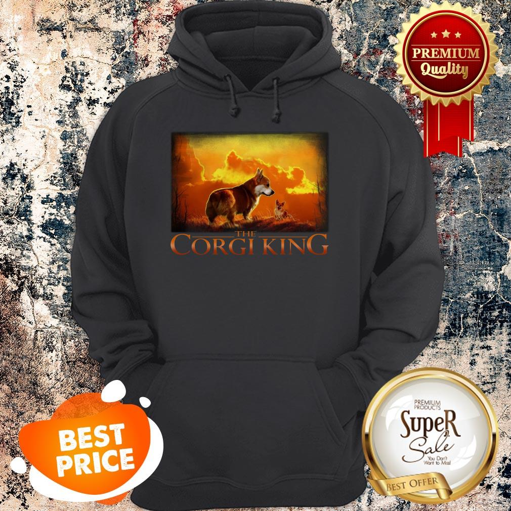 Official The Corgi King Dog Lovers Hoodie