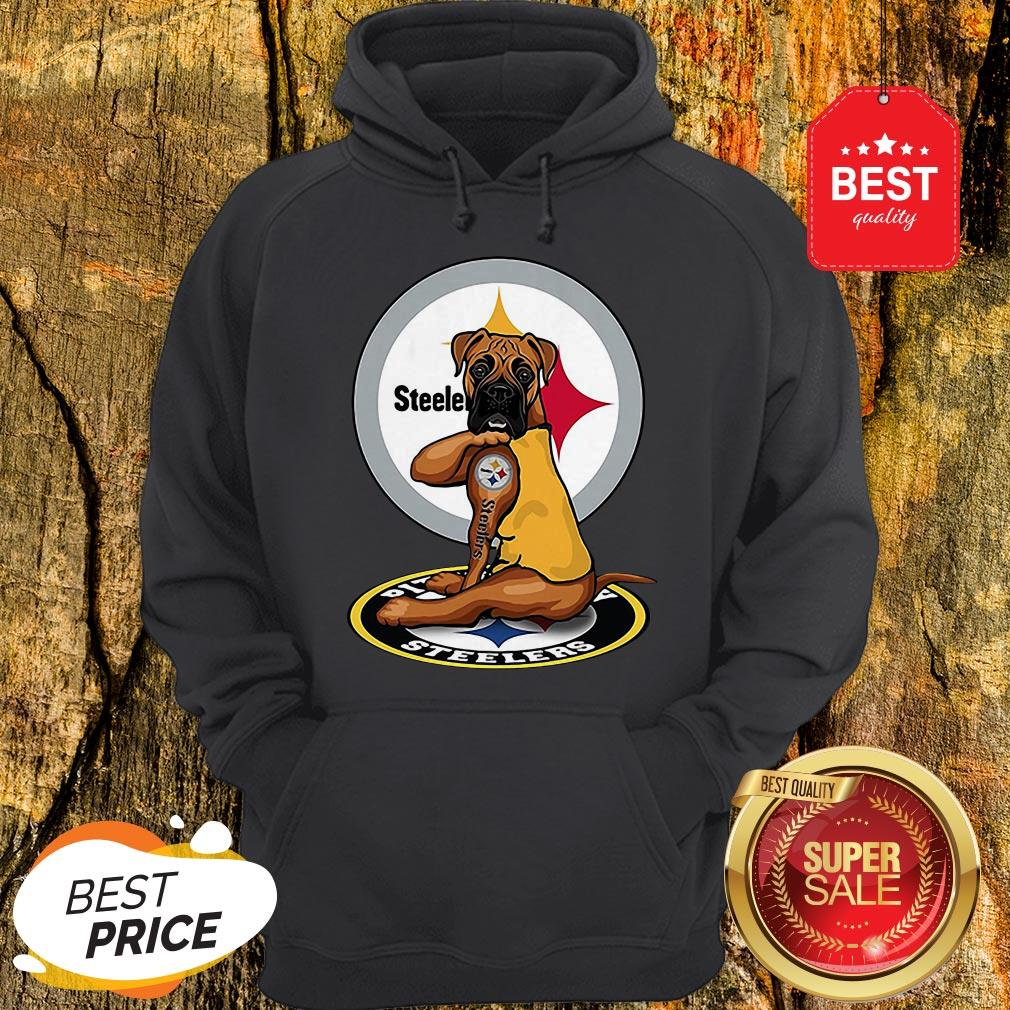 Official Pitbull Tattoo Pittsburgh Steelers Hoodie