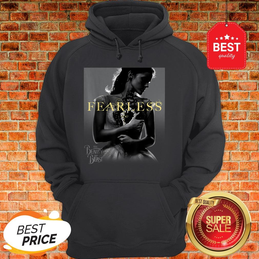 Official Disney Beauty And The Beast Belle Fearless Graphic Hoodie