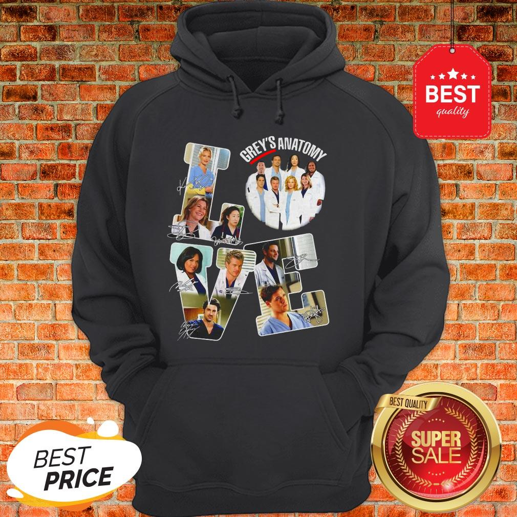 Official Love Grey's Anatomy Signatures Hoodie