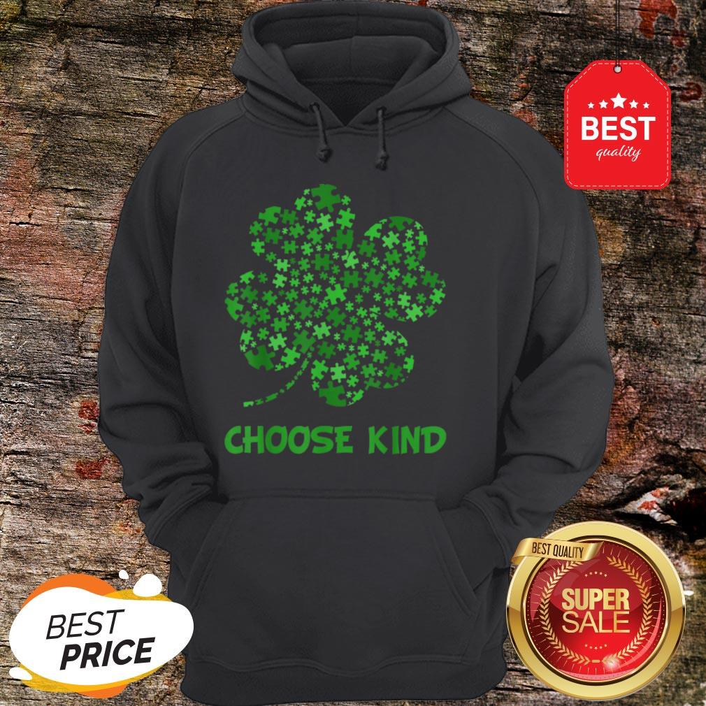 Irish Shamrock Autism Puzzle Pieces St Patrick's Day Gifts Hoodie