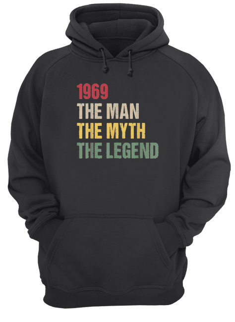 50th birthday gift 1969 the man the myth the legend men unisex hoodie