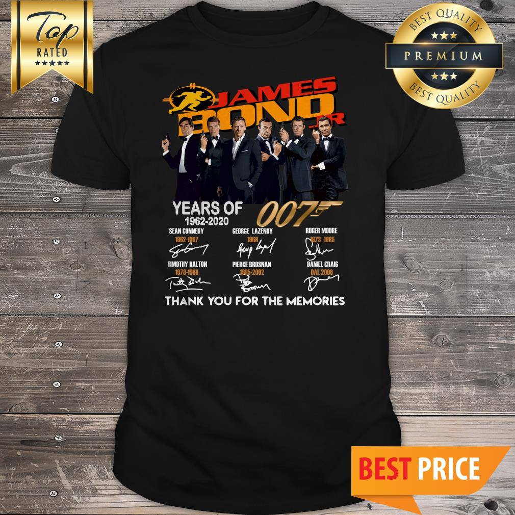 James Bond 007 Years Of 1962-2020 Thank You For The Memories Shirt