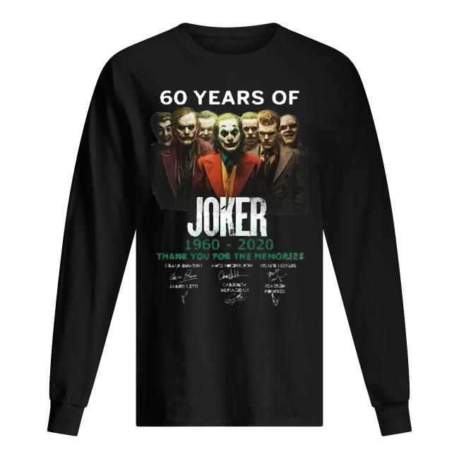 60 years of Joker 1960-2020 thank you for the memories signature Men's Long SLeeved