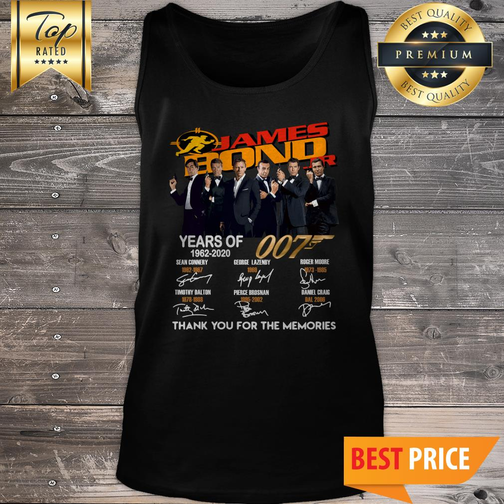 James Bond 007 Years Of 1962-2020 Thank You For The Memories Tank Top