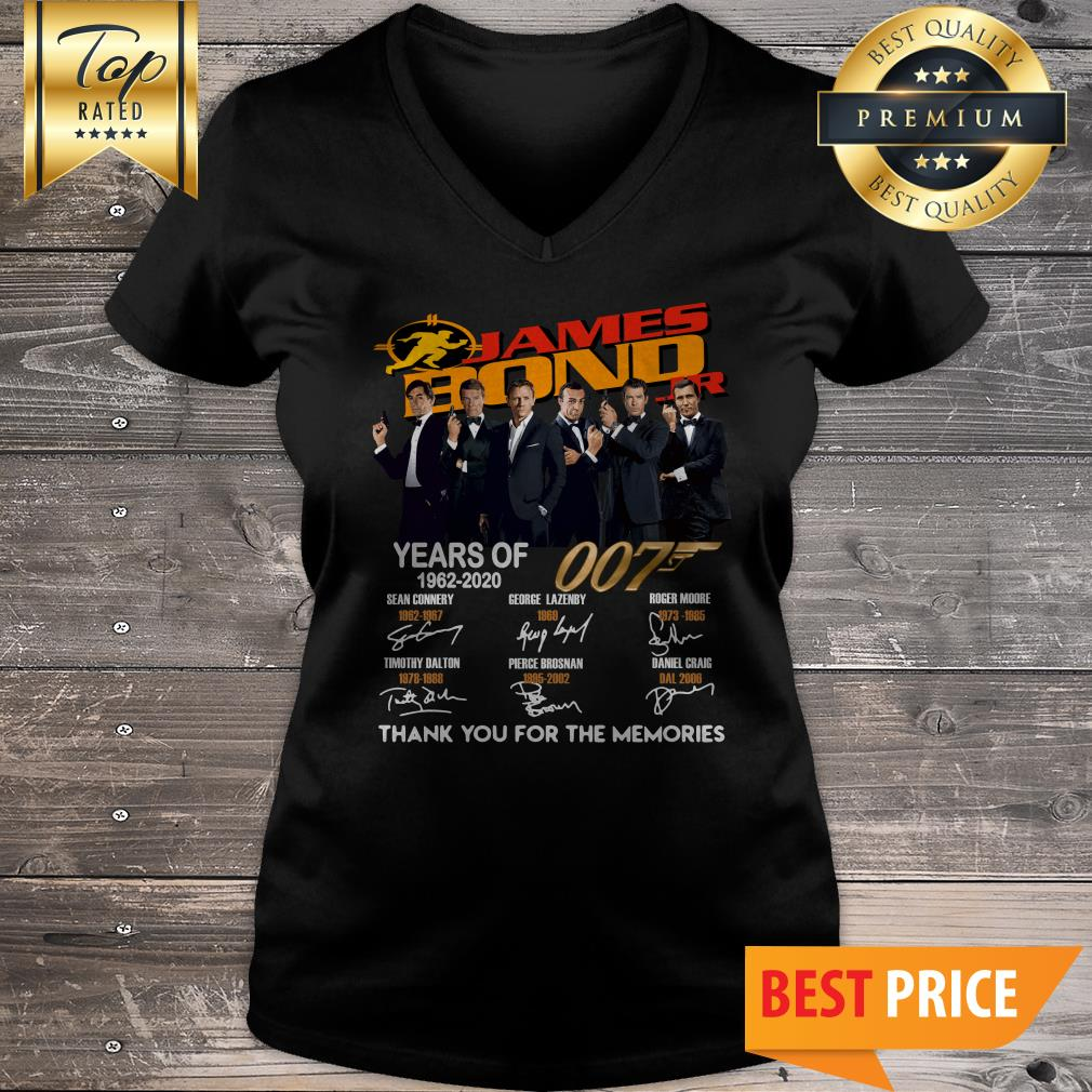 James Bond 007 Years Of 1962-2020 Thank You For The Memories V-Neck