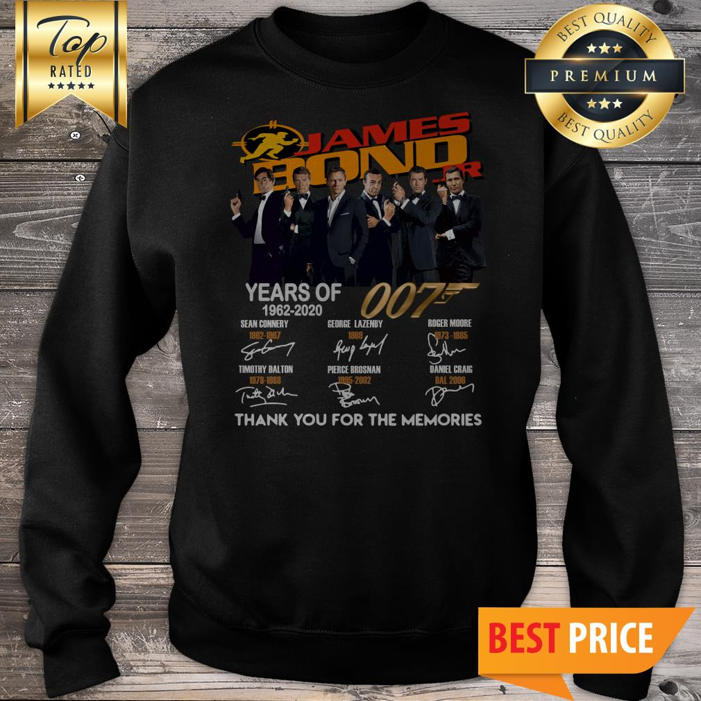 James Bond 007 Years Of 1962-2020 Thank You For The Memories Sweatshirt