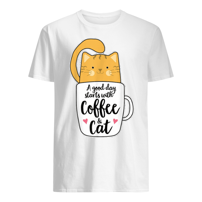 A Good Starts Day With Caffee And Cat shirt