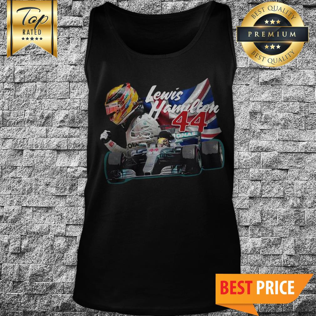Official Lewis Hamilton 44 Car Signature Union Jack Tank Top