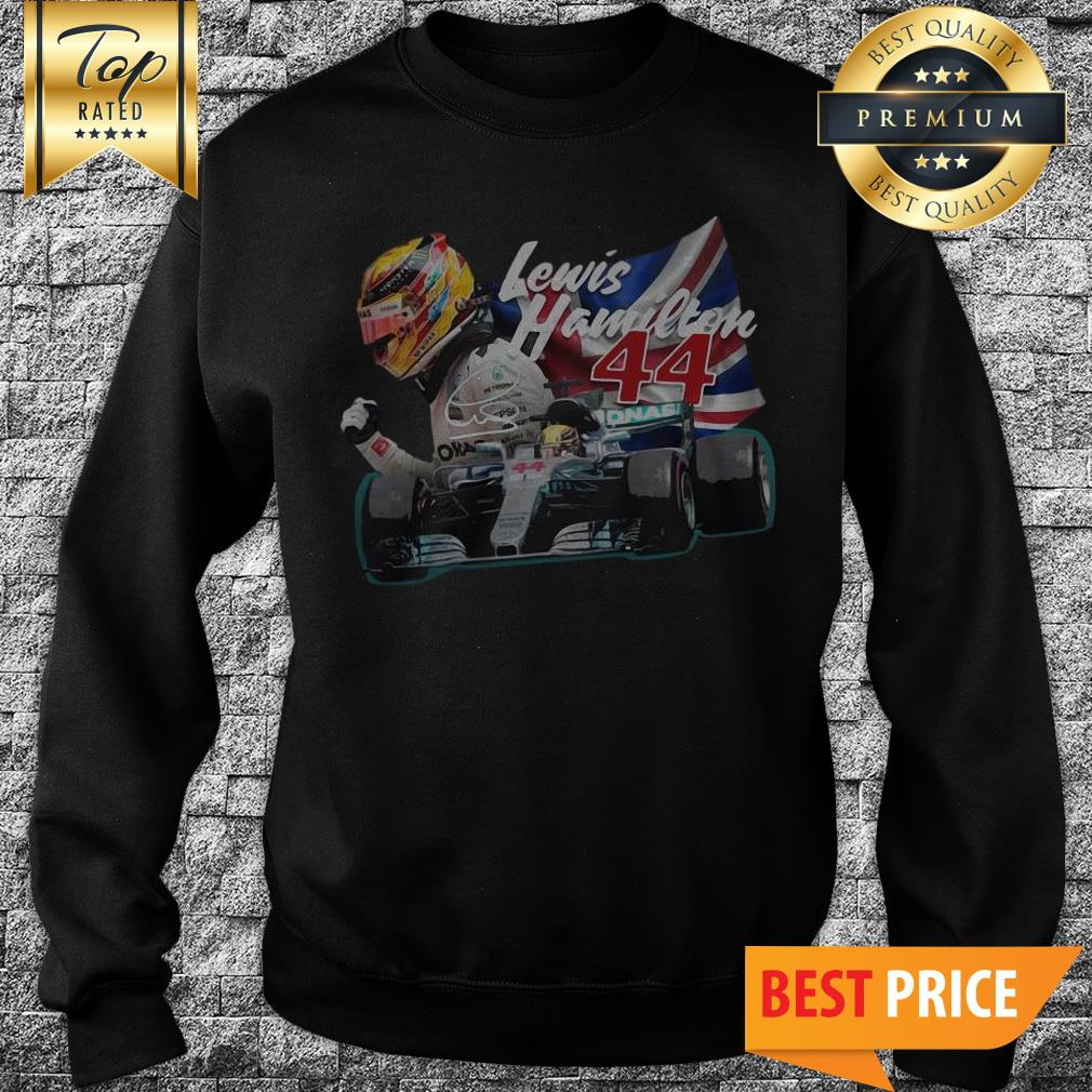 Official Lewis Hamilton 44 Car Signature Union Jack Sweatshirt