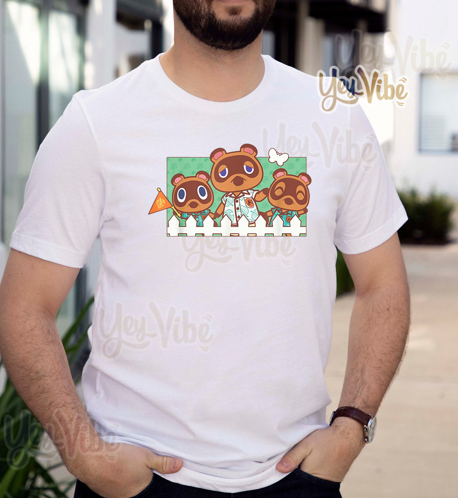 Animal Crossing New Horizons Nook Family Portrait T Shirts