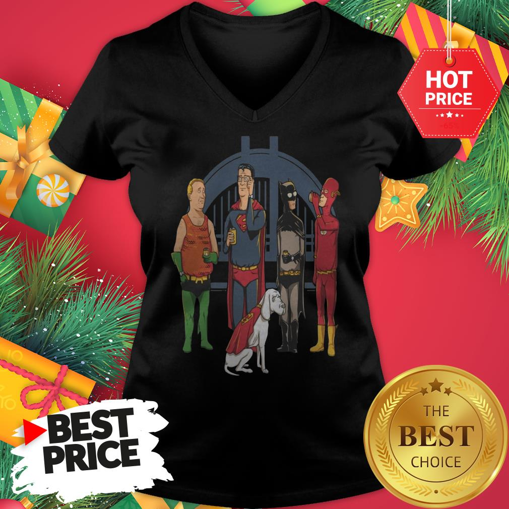 Avengers King Of The Hill Justice League V-Neck