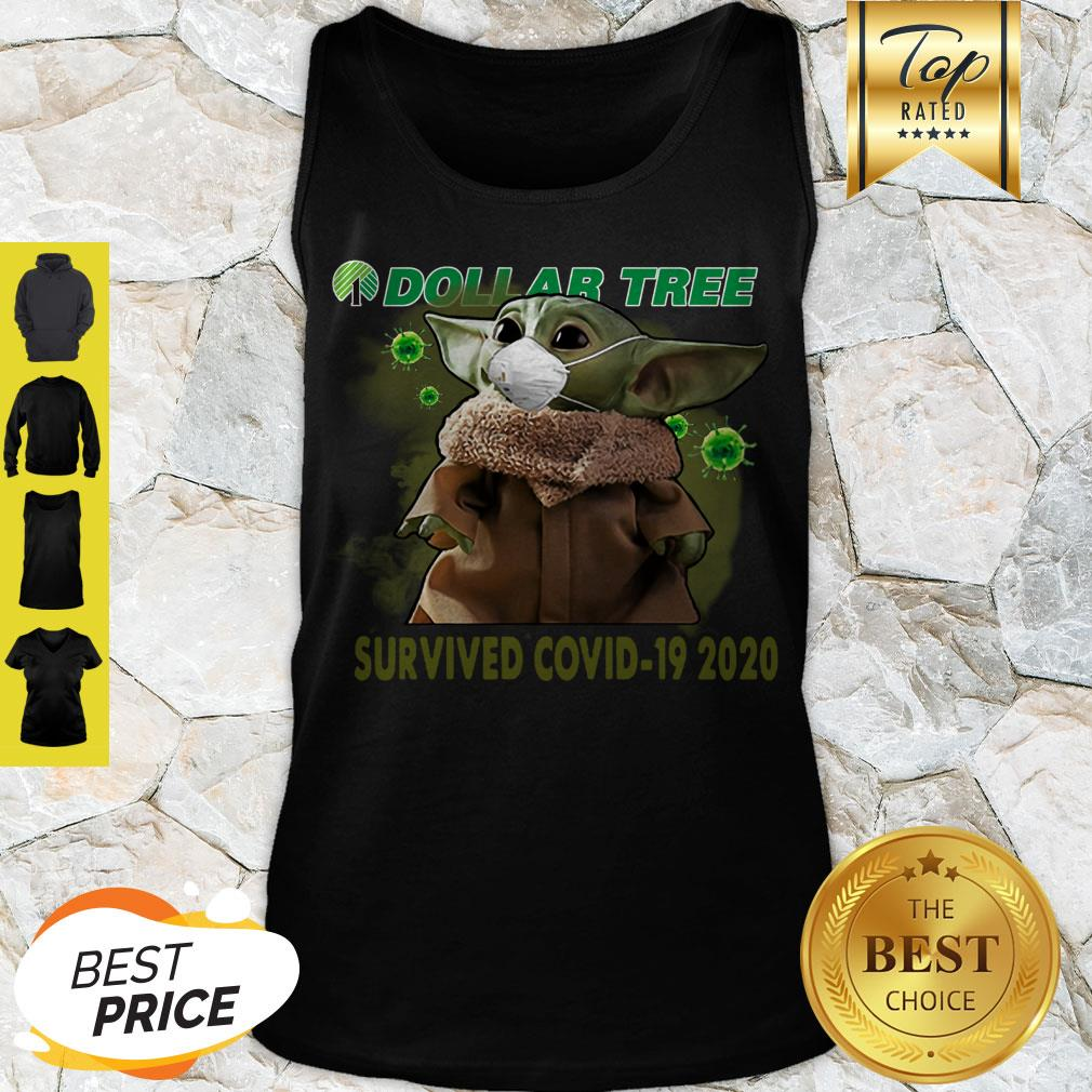 Awesome Baby Yoda Dollar Tree Survived Covid 19 2020 Tank Top