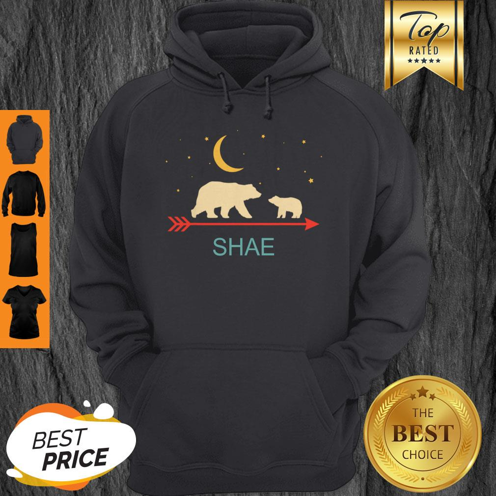 Awesome Shae Name Gift Personalized Mama Bear With 1 Cub Hoodie