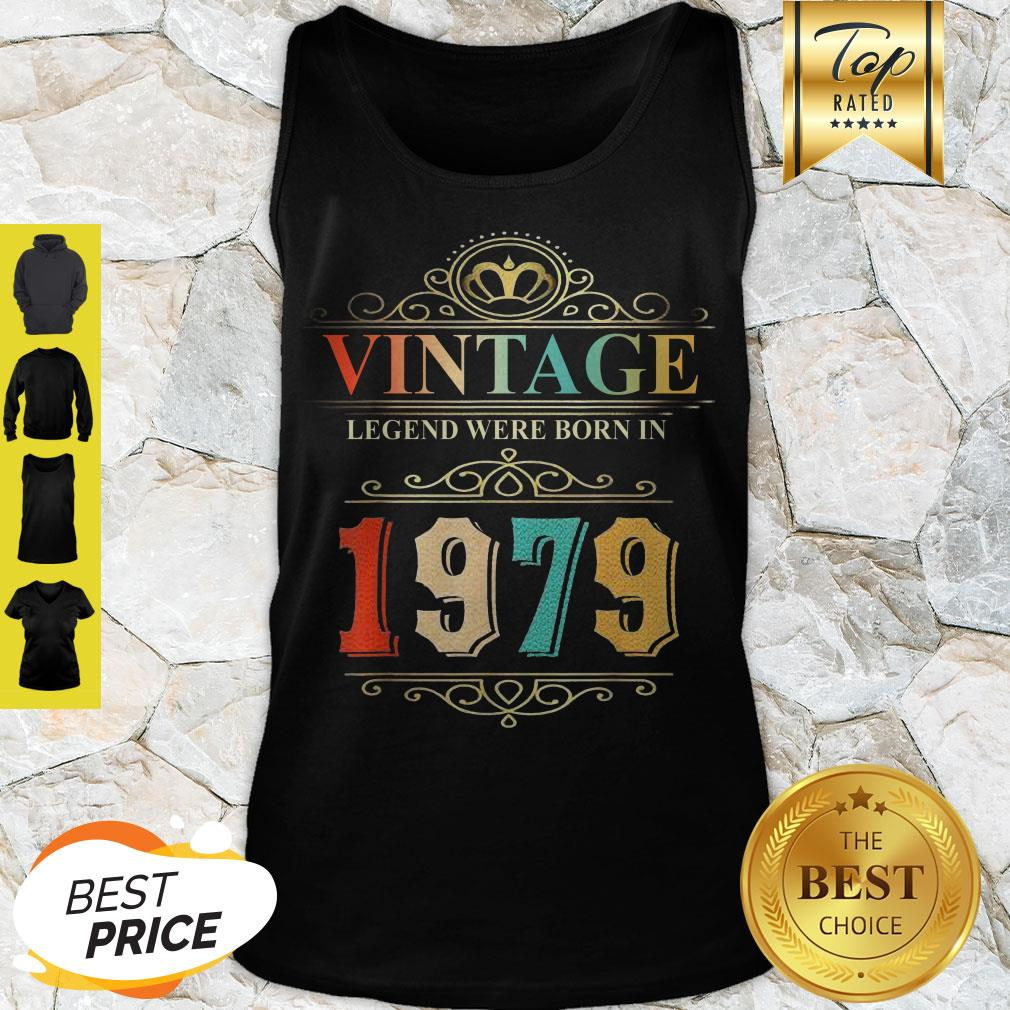 Awesome Vintage Legend Were Born In 1979 Tank Top