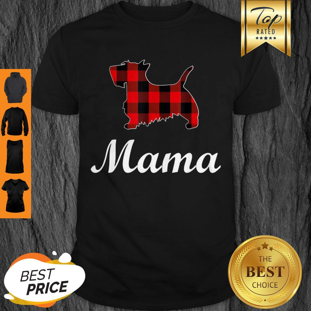 Beautiful Scottish Terrier Mama Red Buffalo Plaid Scottish Terrier Shirt