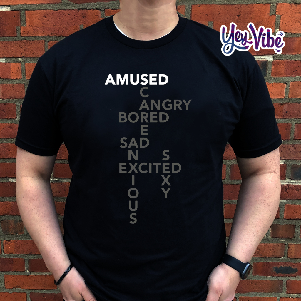 Bored Amused Angry Sad Excited Anxious SCARED Mood T Shirt